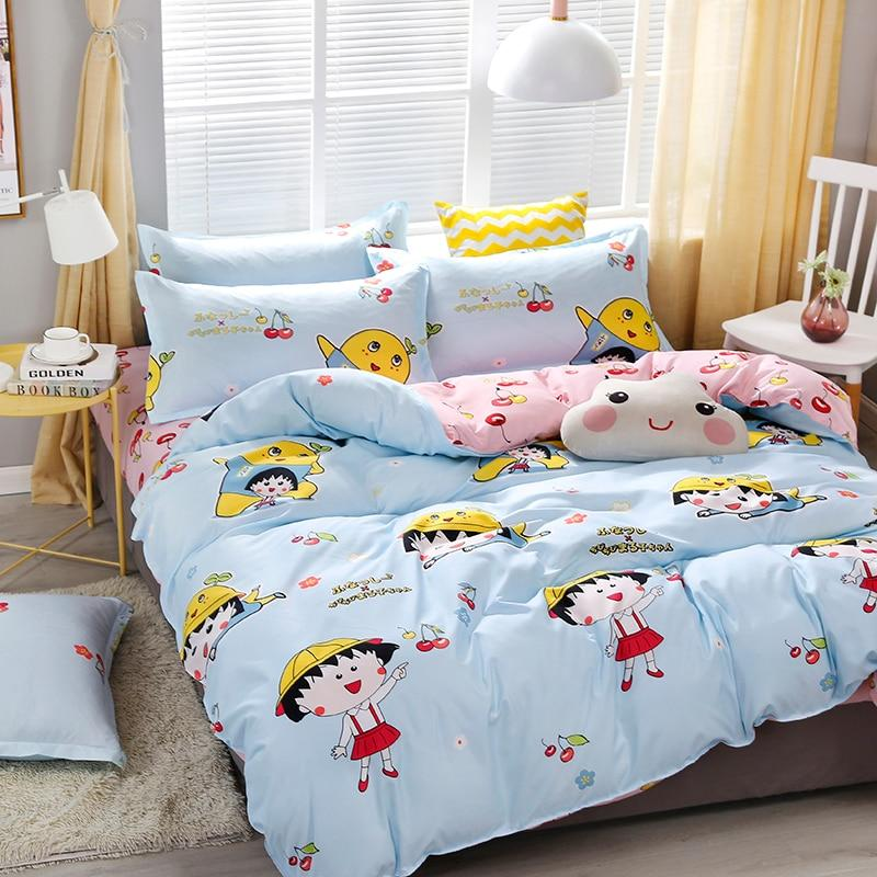 Beddings - 4 Pcs Set Kawaii & Chibi Cartoon Pattern Beddings