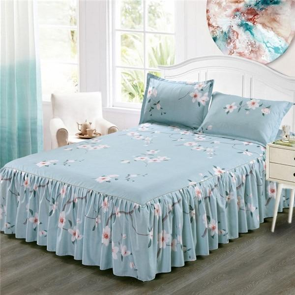 Beddings - Classic Single Layer Skirt Flower Decorative Bed Sheet