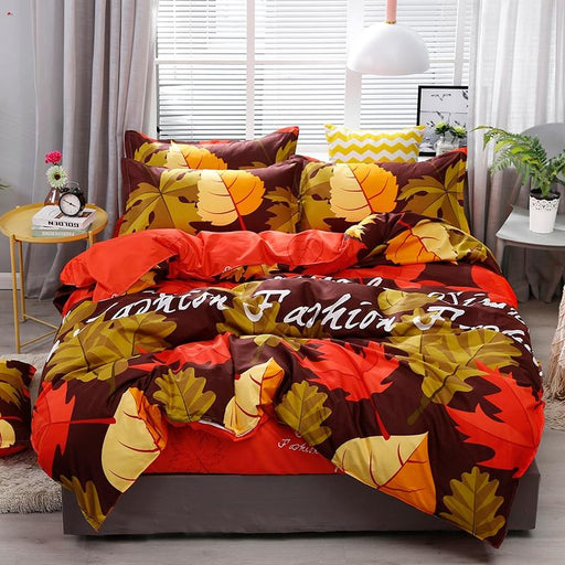 Beddings - High Quality Maple Leaf Printed Bedding Set