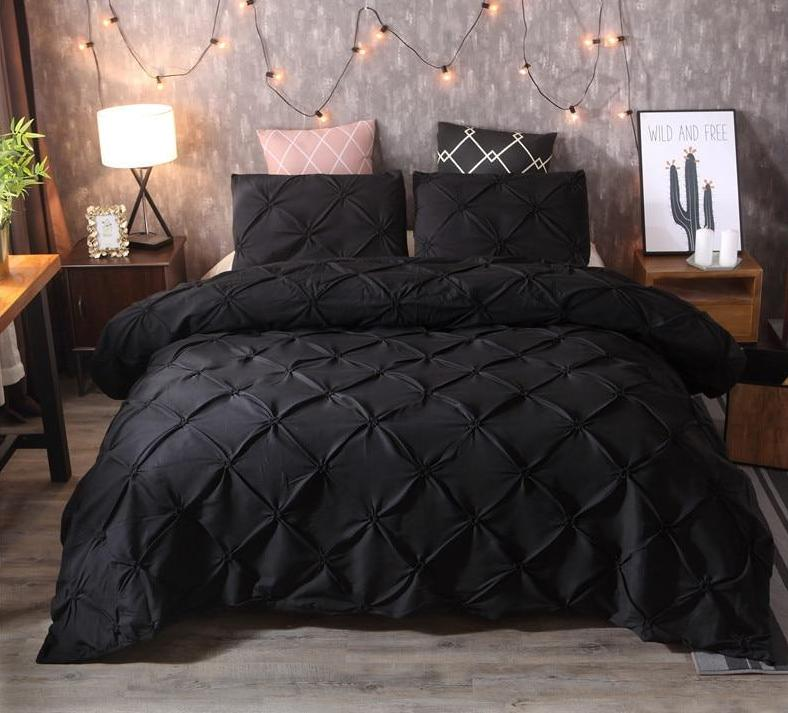 Beddings - Luxurious Pinch Pleat Comforter Bedsheet Covers