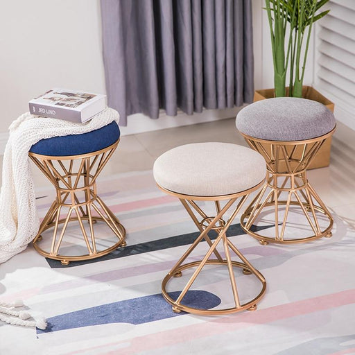 Bedroom Benches - Golden Iron Dressing & Makeup Stool