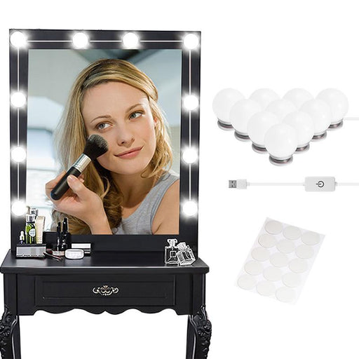 Bedroom Make-up Vanities - 10 Bulb KIt For Dressing & Makeup Table