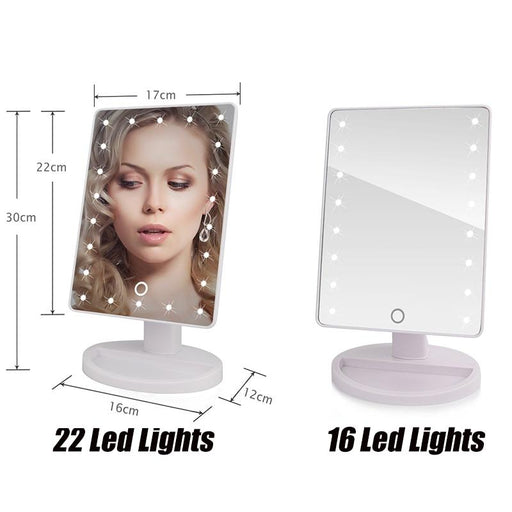 Bedroom Make-up Vanities - LED Makeup Mirror Touch Sensor Vanity Kit