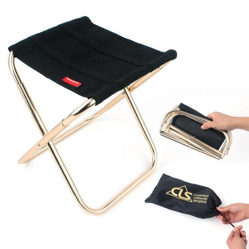 Benches - Outdoor Portable Folding Sturdy Camping Stool Chair Bench