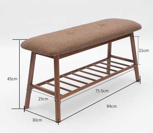 Benches - Solid Wood Minimalistic Shoe Rack Bench