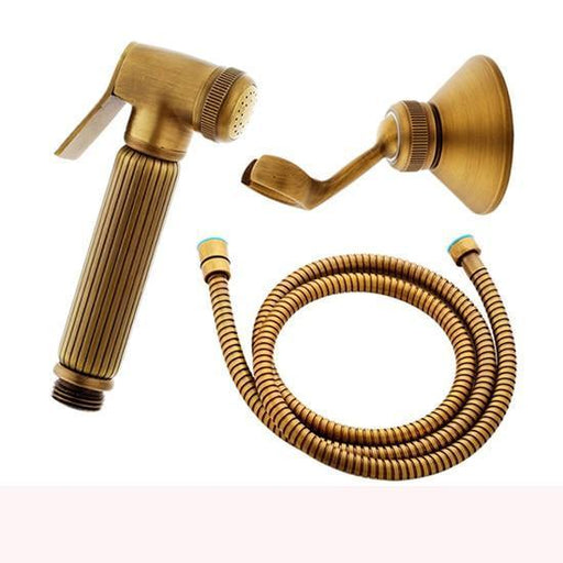 Bidet Faucet - Antique Brass Hand Held Bidet Spray Kit