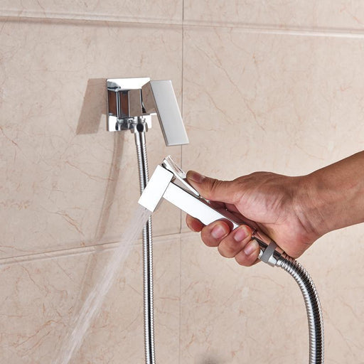 Bidet Faucet - Brass  Square Shape Shower Bidet Spray