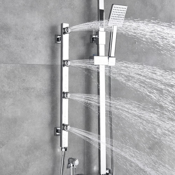 Body Massage Jet Chrome Shower Faucet Set - Body Massage Jet Chrome Shower Faucet Set