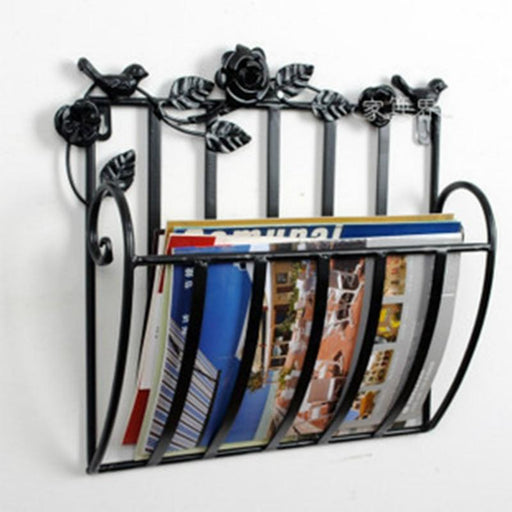 Book Cases - Metal Wall Living Room Magazine Racks Bookcase
