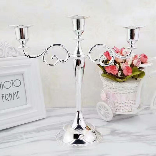 Candles & Holders - 3 & 5 Arms Metal Pillar Candlestick Holder Decoration