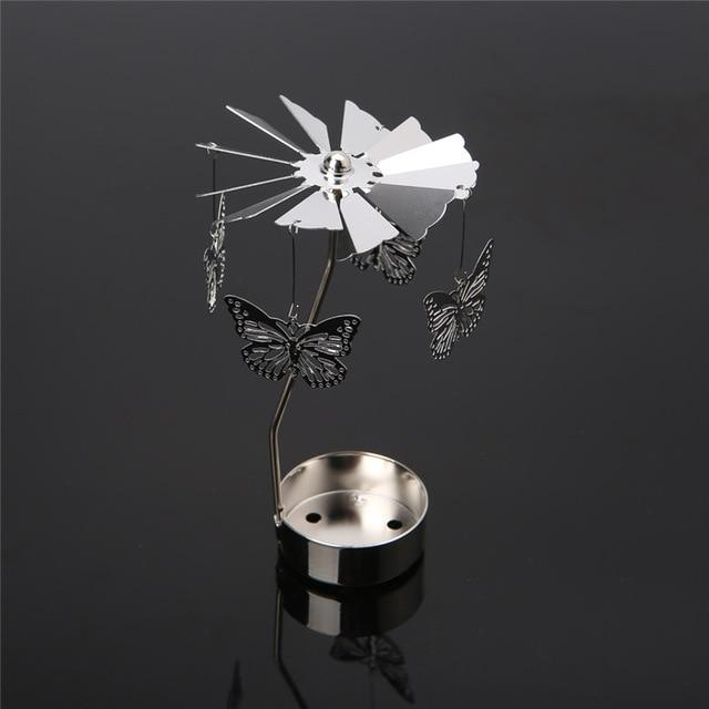 Candles & Holders - Romantic Rotary Spinning Metal Holder Candle Holder