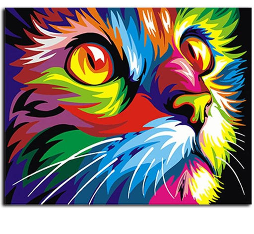 Canvas Painting Art - Abstract Framed Oil Painting Animals Home Decoration