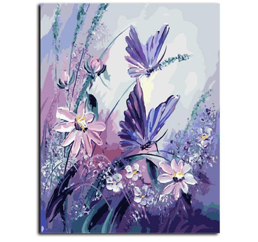 Canvas Painting Art - Butterfly & Natures Frameless Picture Painting Wall Art