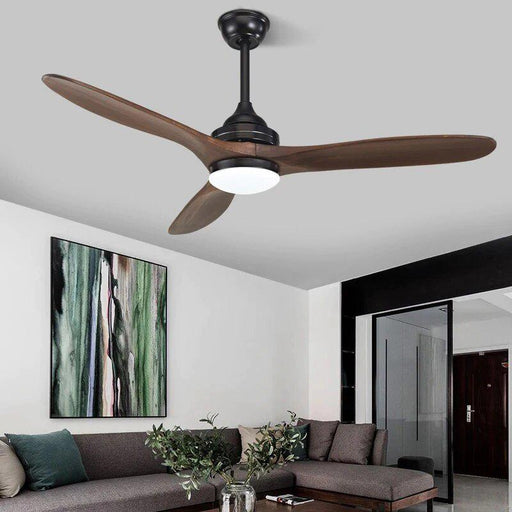 Ceiling Fans With Lights - Industrial Vintage Wooden Ceiling Fan Remote Control
