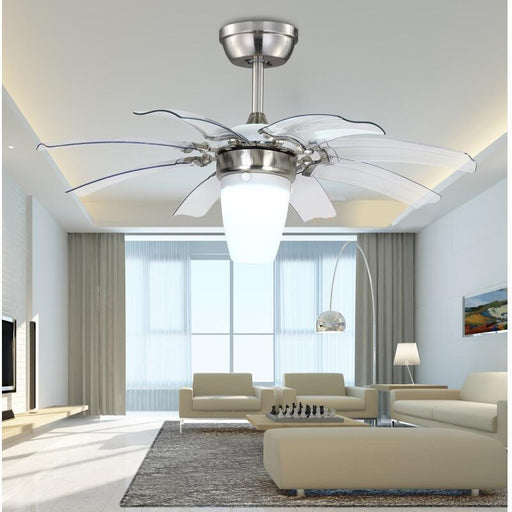 Ceiling Fans With Lights - Invisible Transparent Modern ABS Blades Ceiling Fan Light