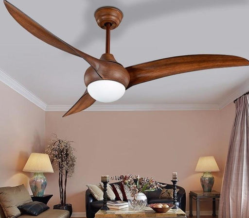 Ceiling Fans With Lights - Large Minimalist Vintage Theme Ceiling Fan With Lights & Remote Control