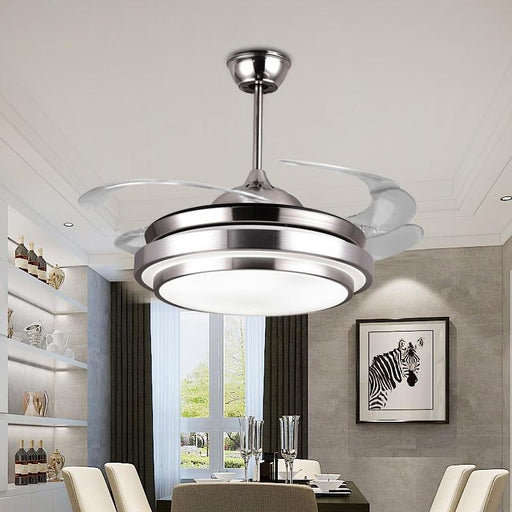 Ceiling Fans With Lights - Modern Simple Acrylic Leaf Led Ceiling Fans With Lights
