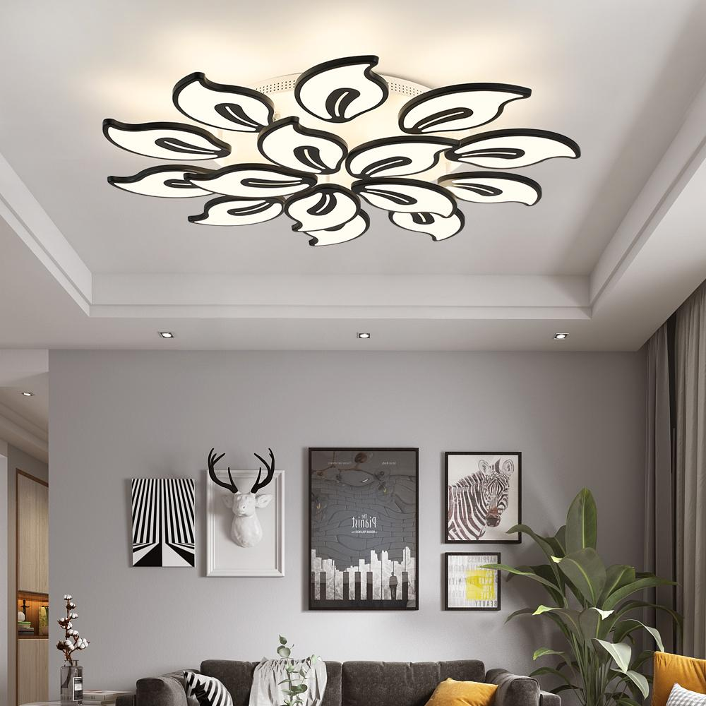 Chandeliers - Large White Acrylic LED Modern Chandelier Lighting