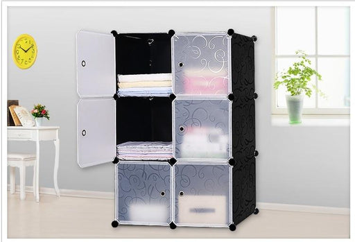 Closet Storage - 6 DIY Portable PVC Box Storage Cabinet With Steel Frame