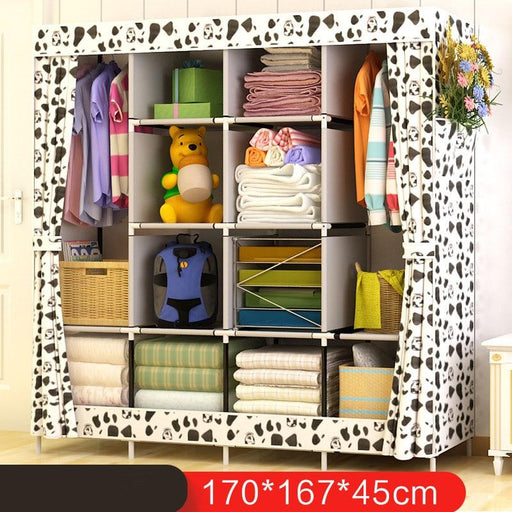 Closet Storage - Multi-Function Fabric Wardrobe Storage & Organizer Cabinet