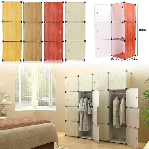 Closet Storage - Resin Wood Grain Closet Cabinet Storage