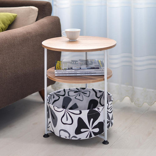 Coffee Table - Simple Small Round Movable Sofa Side Tea & Coffee Table