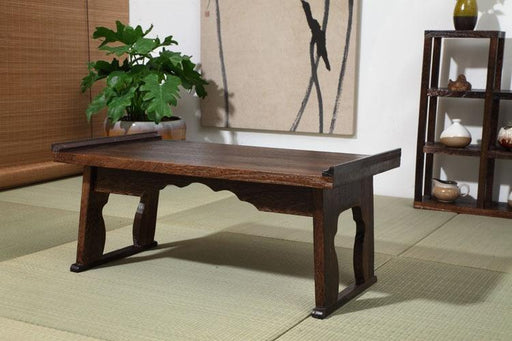 Coffee Table - Wood Traditional Antique Tray Table Folding Coffee Table