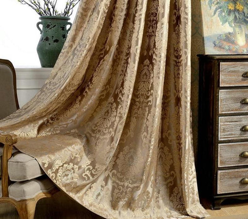 Curtains & Blinds - Damask Curtains Luxury Blind Drapes Window Fabric Panel