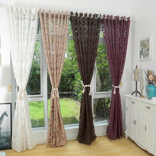 Curtains & Blinds - Ready Made Semi-Blackout Fabric For Window Panel Curtains
