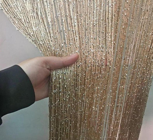 Curtains & Blinds - String Curtain Shiny Tassel Line Curtains Drape Blinds