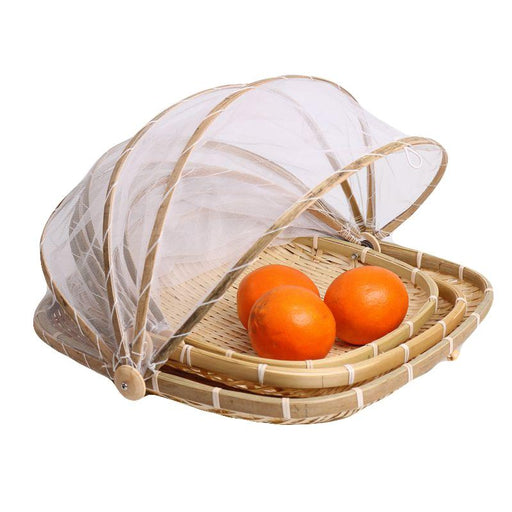 Decorative Baskets - Handmade Bamboo Bug Proof Wicker Picnic Basket