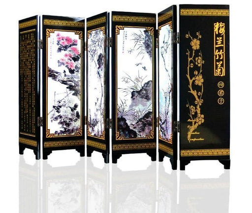 Decorative Screens - Ornament Wood Arts Craft Mini Folding Screen