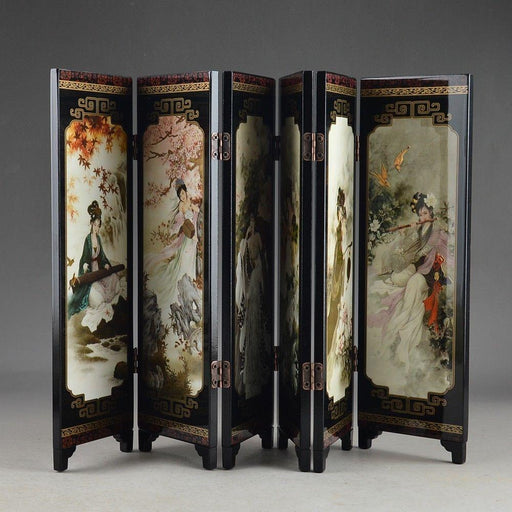 Decorative Screens - Traditional Old Hand Painting Folding Screen