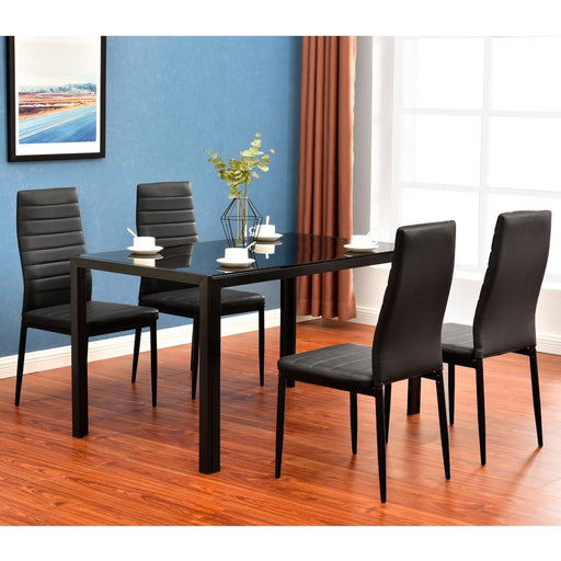 Dining Tables - Glass Metal Kitchen Dining Table Set