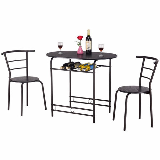 Dining Tables - Modern Pub Style 3 Pcs Dining Table Set