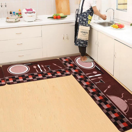 Door Mats - Big Size Non-Slip Kitchen Themed Entrace Doormat