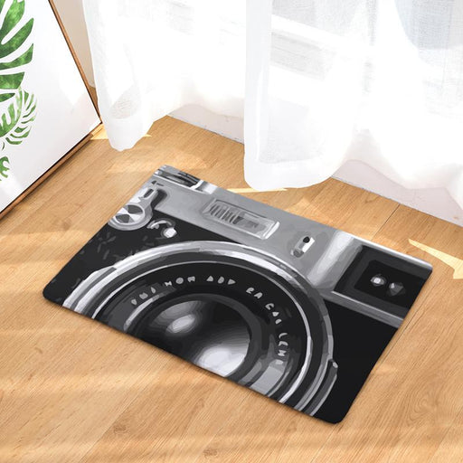Door Mats - Camera & Technology Themed Pattern Anti-Slip Entrance Doormat