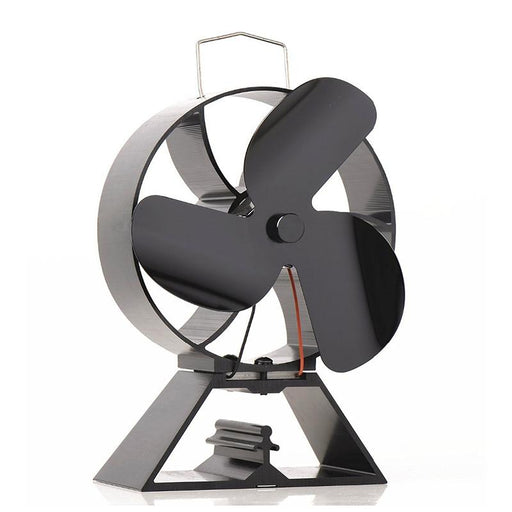 Fireplace Accessories - Eco Friendly Heat Powered Fan For Wood Fireplace Accessories With Thermometer