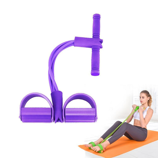 Fitness Equipments - Fitness Gym 4 Tube Resistance Bands Latex Pedal Exerciser Workout Equipment