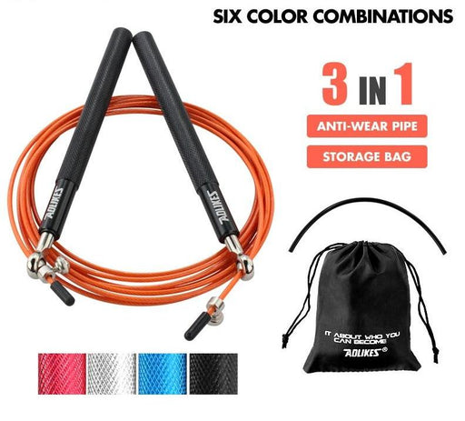 Fitness Equipments - Professional Speed Jump Rope Fitness Skipping Workout