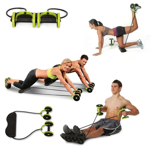 Fitness Equipments - Wheels Roller Stretch Elastic Abdominal Resistance Pull Rope