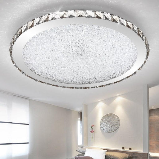 Flash Mount Lights - Large Modern Crystal LED Flush Mount Ceiling Light