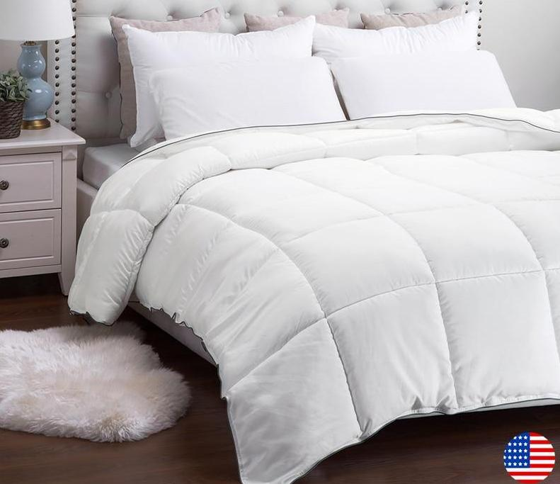Futons - High Quality White Down Breathable Comforter Futon