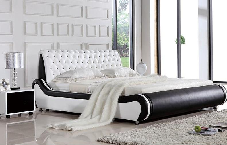Latest Double Bed Modern Design Soft Headboard — Index Cove
