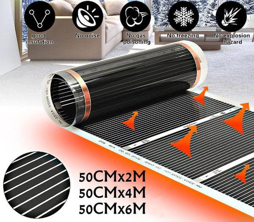 Heaters - Infrared Electric Floor Heating Film Under Laminate & Solid Floor