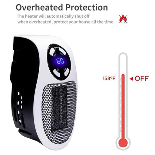 Heaters - Portable Electric Heater Household Wall Warming Machine