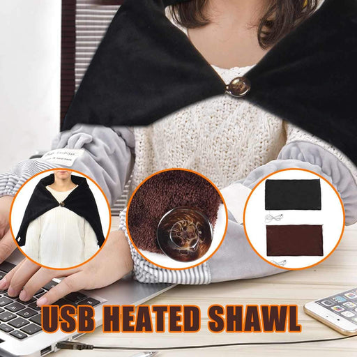 Heaters - USB Heating Soft Shawl Electric Warming & Heating Blanket