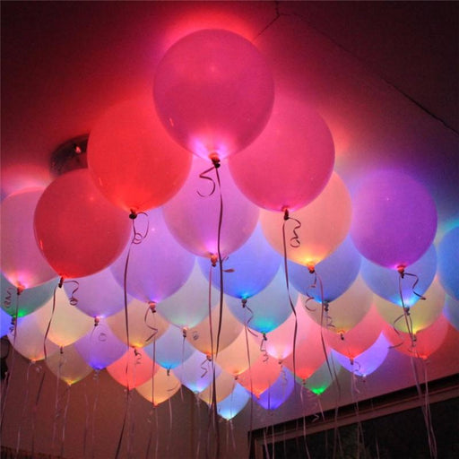 Holiday Decorations - 10 Pcs Mini LED Lights Balloon Party & Birthday Decor