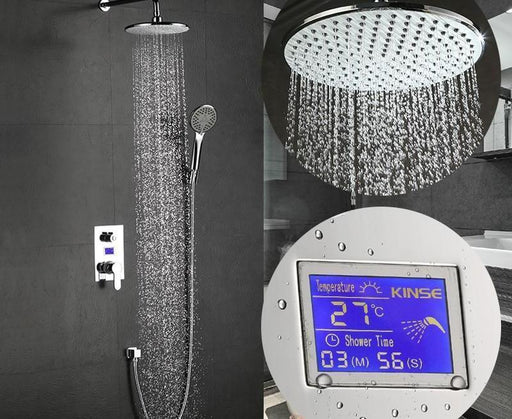 Home Decor - Wall Mount LCD Digital Display Bath Shower System