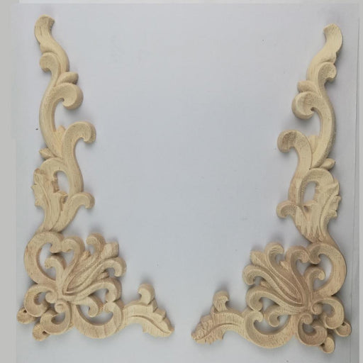 Index Cove - Wood Carved Corner Onlay Applique Frame For Door Walls & Furnitures